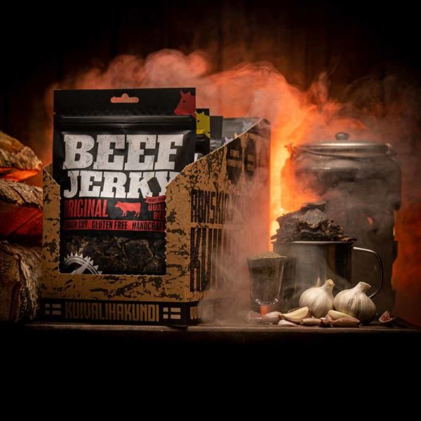 Kuivalihakundi Kotimaista kuivavilaa - Beef Jerky Jerkku Hefeboxi