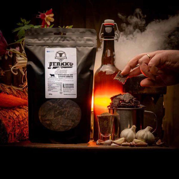 Kuivalihakundi beef jerky Jerkku Savustettu kuivaliha
