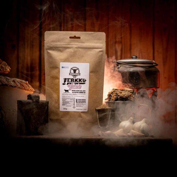 Kuivalihakundi Jerkku Beef jerky garlic